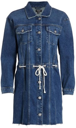 Hudson Grommet Tie-Waist Denim Dress