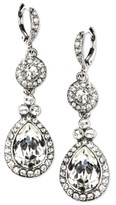 Thumbnail for your product : Givenchy Silver-Tone Crystal Element Double Drop Earrings