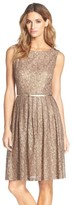 Ellen Tracy Women's Pleated Lace Fit & Flare Dress