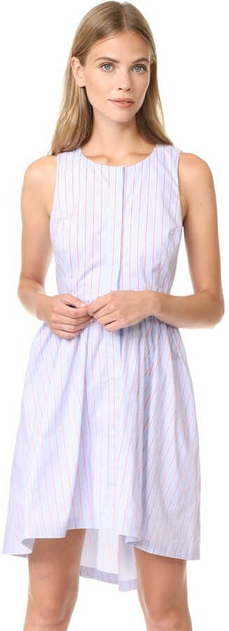 J.o.a. Women's Asymmetric Stripe Dress