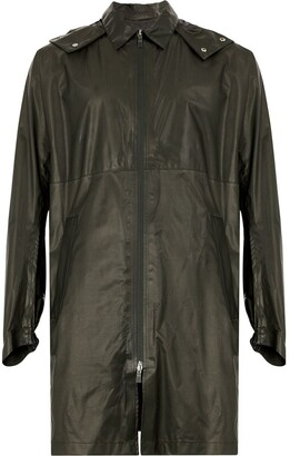 Herno midi zip raincoat