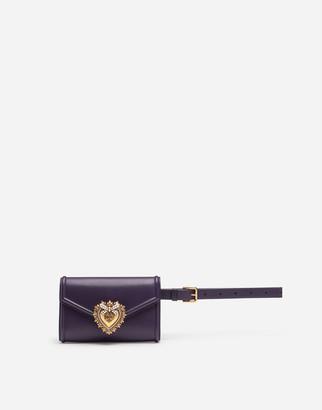 Dolce & Gabbana Devotion Fanny Pack In Plain Calfskin