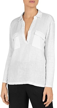 Gerard Darel Jucilia V-Neck Linen Top