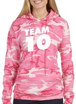 Allntrends Adult Camouflage Hoodie Team 10 Trendy Cool Top (L, )