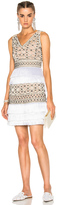 Alberta Ferretti Crochet Embellished Sleeveless Mini Dress