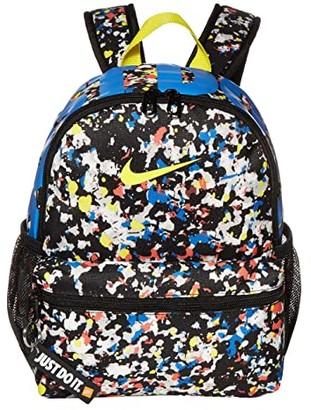 Nike Kids Brasilia JDI Backpack (Little Kids/Big Kids) (Black/Black/Optic Yellow) Backpack Bags