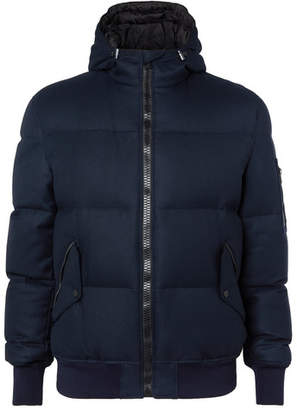 Aztech Mountain Shadow Mountain Storm System Quilted Wool Hooded Down Ski Jacket