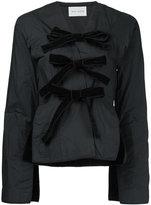 MS MIN velvet bow blazer - women - Polyester - 4