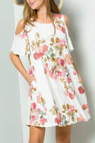 ee:some Watercolor Floral Swing-Dress