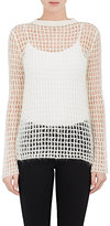Helmut Lang WOMEN'S MOHAIR-BLEND OPENWORK KNIT SWEATER-IVORY SIZE L