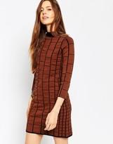 Asos A-Line Dress in Grid Stitch in Knit