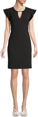 Vince Camuto Flutter-Sleeve Mini Dress