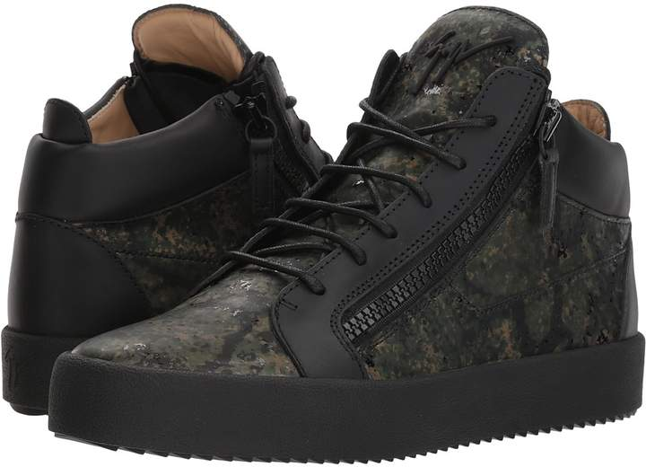 Giuseppe Zanotti May London Camo Mid Top Sneaker Men's Shoes