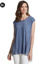 Chico's Mixed-Fabric Pigment Top