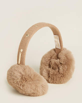 Michael Kors Studded Faux Fur Earmuffs