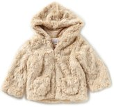 Starting Out Baby Girls 12-24 Months Faux-Fur Trim Coat
