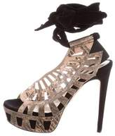 Chrissie Morris Cutout Wrap-Around Sandals