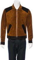 Tom Ford Two-Toned Aged Suede Bomber Jacket
