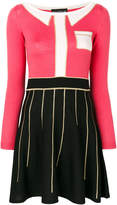 Moschino contrast fitted dress