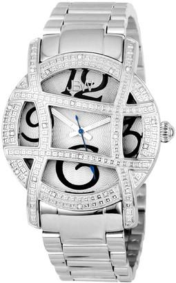 JBW Women's Olympia Diamond & Crystal Watch