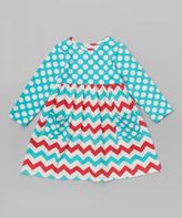 Flap Happy Vintage Chevron Stripe Dress - Infant, Toddler & Girls