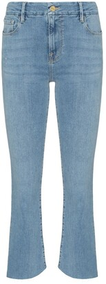 Frame Le Crop Mini Boot rear triangle gusset jeans