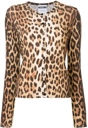 Moschino Leopard Printed Cardigan