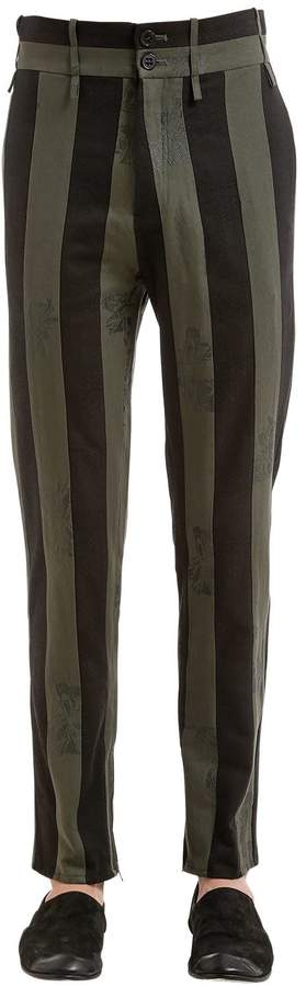 Damir Doma 15cm Striped Cotton Blend Pants