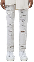 Topman AAA Collection Slashed Skinny Fit Jeans