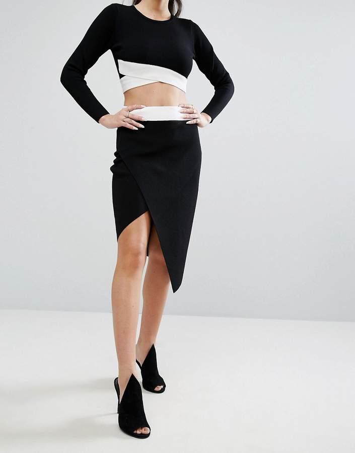 KENDALL + KYLIE Asymetric Overlap Skirt
