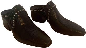 Acne Studios Black Leather Mules & Clogs