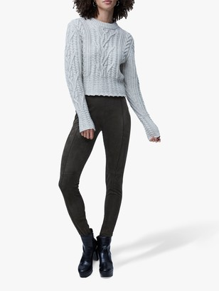 French Connection Joetta Cable Knit Jumper, Dove Grey