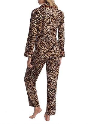 Lauren Ralph Lauren Leopard Satin Pajama Set