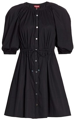 STAUD Vincenza Puff-Sleeve Dress