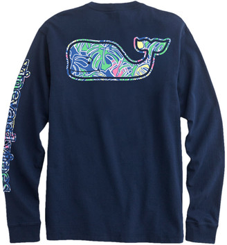 Vineyard Vines OUTLET Colorful Tropics Whale Fill Long-Sleeve Pocket Tee