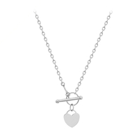 T Bar Necklace With Heart Style Uk