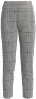 Joan Vass Plaid Slim-Fit Pants