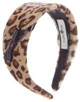 Eugenia Kim Leopard Printed Ponyhair Headband