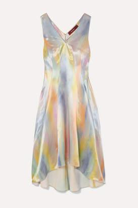 Sies Marjan Miriam Printed Satin Midi Dress - Blue
