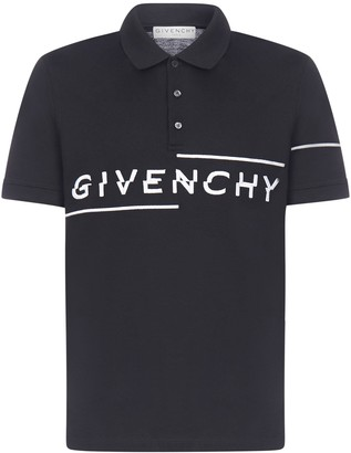 Givenchy Split Embroidered Slim Fit Polo Shirt