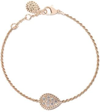 Boucheron 18kt rose gold Serpent Boheme diamond S motif bracelet