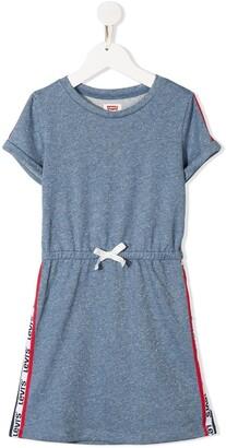 Levi's mottled jersey drawstring T-shirt dress