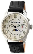 Breed Men's Alton Watch with Crocodile Embossed Leather Strap