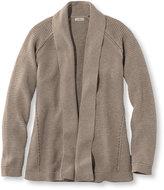 L.L. Bean Cotton Mixed-Stitch Sweater, Open Cardigan