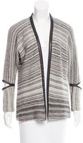 Yigal Azrouel Wool-Blend Leather-Trimmed Cardigan