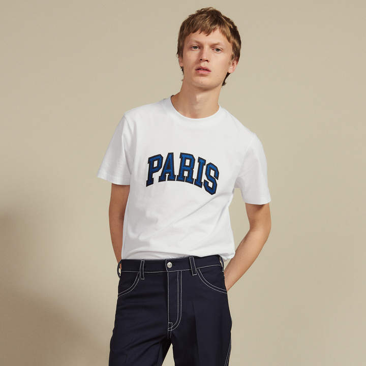 Sandro T-Shirt With Patch Lettering
