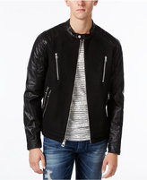 GUESS Laminated Wool Bomber Jacket