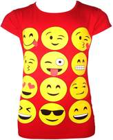 Ael Girls T-Shirts Leggings Emoji Emoticons Smiley Faces Short Sleeve Tops 7-13 Y Delivery In 10 Days