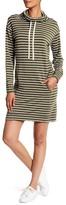 Max Studio Knit Long Sleeve Raglan Stripe Sweater