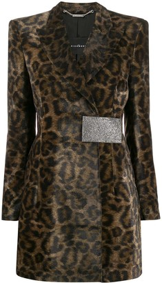 John Richmond Leopard Print Coat
